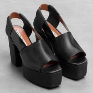 & other stories black heels